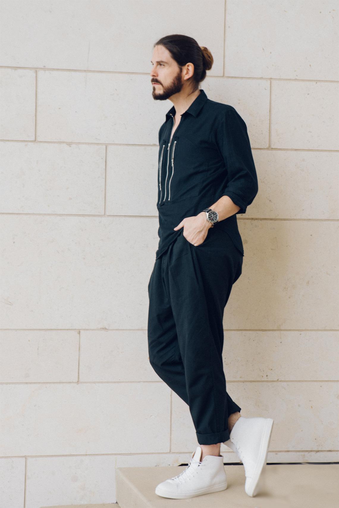 outfit leichter sommerlook mit schwarzer stoffhose. Black Bedroom Furniture Sets. Home Design Ideas