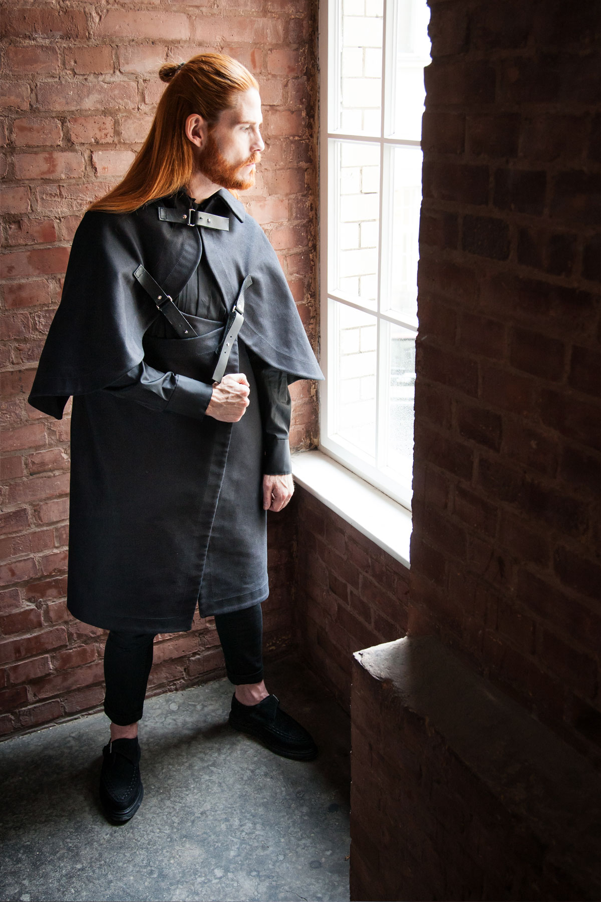 Esther-Perband-Avantgarde-Malefashion-Unisex-Ginger-Hair-Winterkollektion