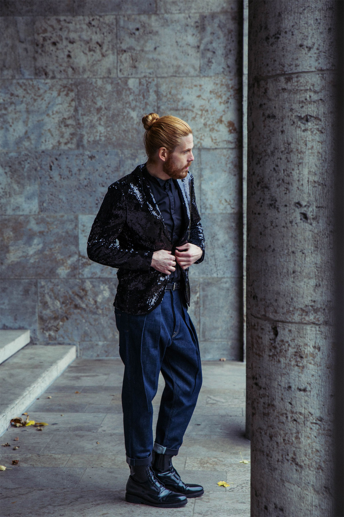 Malefashionblog-Influencer-Style-Silvester-Sakko-Jeans-Boots-Party