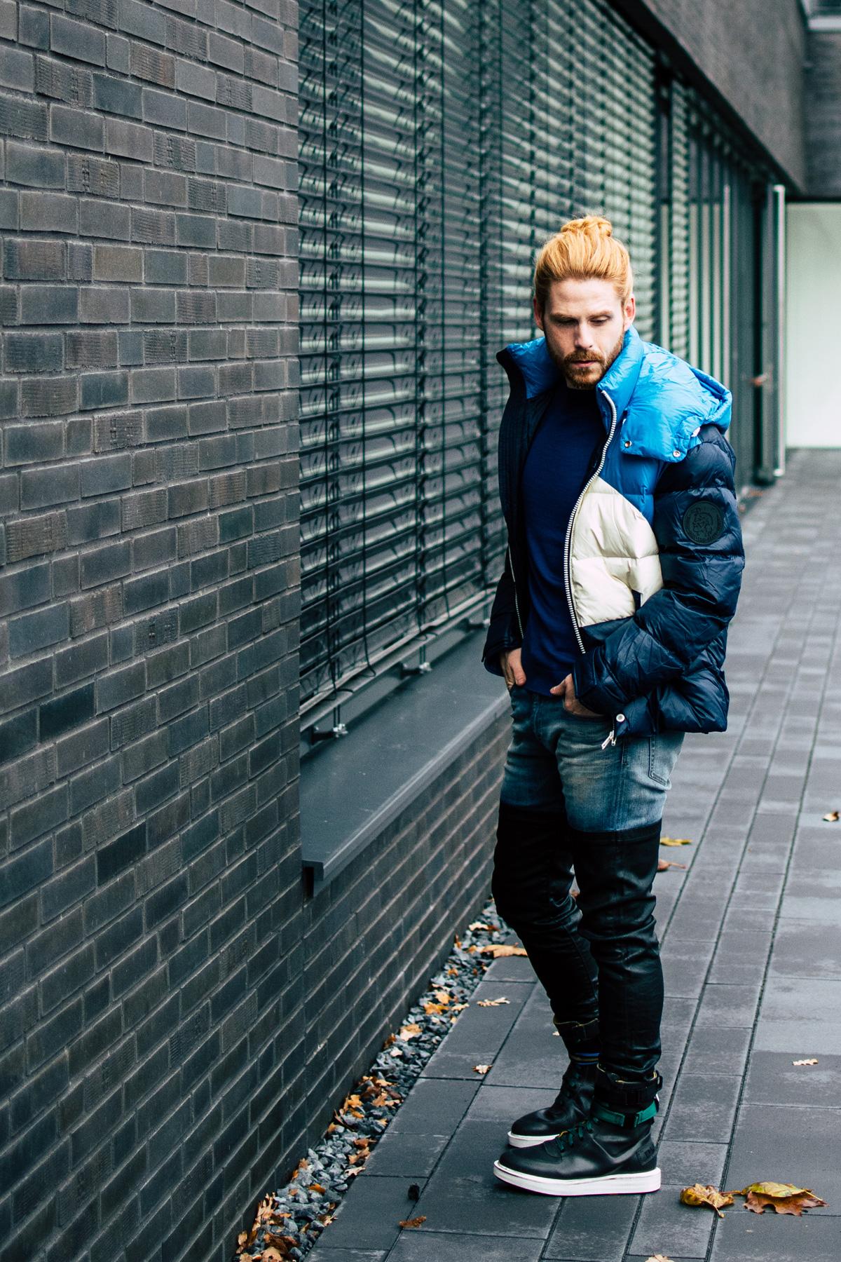 Steppjacke-Diesel-Winterlook-Streetstyle-Winterboots-Fashion-Style